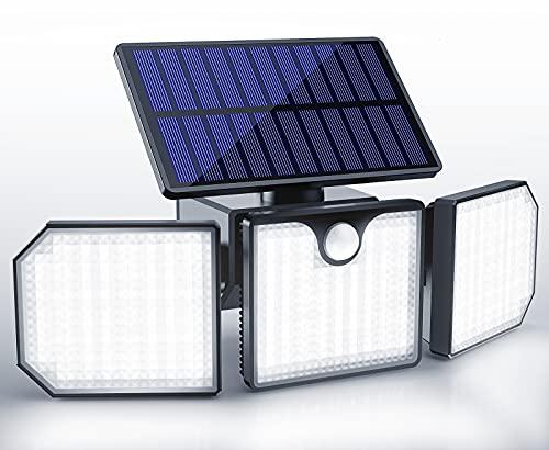 Koicaxy Solarlampen für Außen mit Bewegungsmelder, 230 LED Solarleuchten für Außen, 270° Drehbare LED Solar Strahler, 2200mAh IP65 Solar Bewegungsmelder Aussen für Garten Patio Garage[1 Stück]