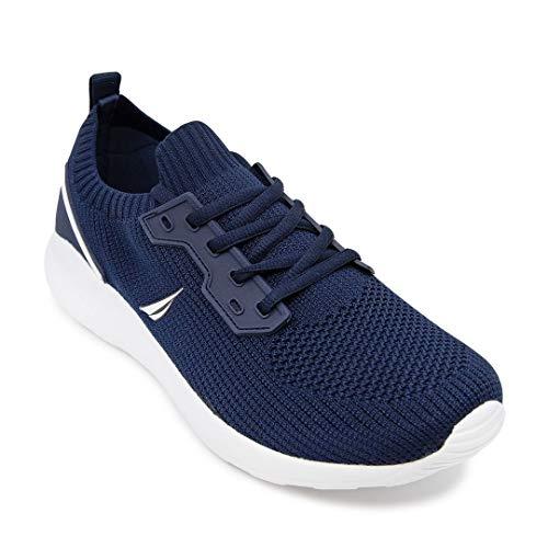 Nautica - Zapatillas deportivas deportivas para hombre con cordones, estilo informal, para caminar, Dayton-azul marino., 11