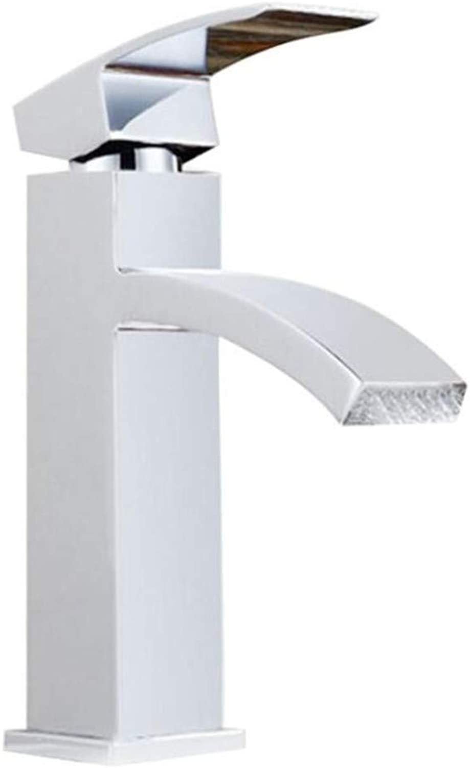 Bathroom Sink Basin Lever Mixer Tap Mixing Water Tap Waterfall Flat Mouth Faucet Above Counter Basin Basin Hot and Cold Wide Mouth Faucet