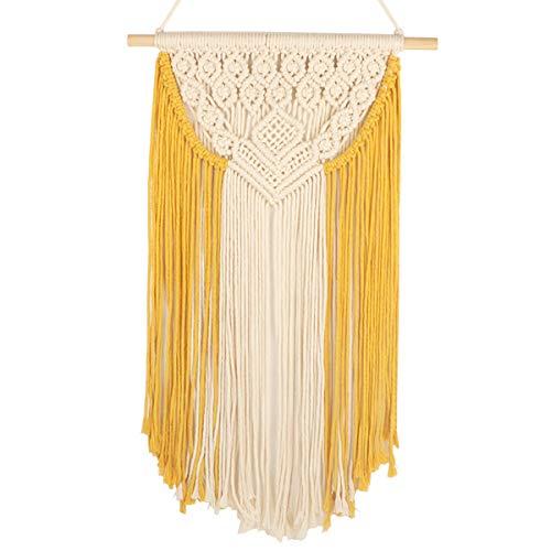 Tapiz de macramé para colgar en la pared tejido a mano tapices de cuerda de algodón de estilo...