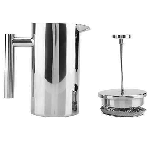 Koffie- / theeketel, koffiemachine French press theepot, met filter, heetwaterketel, dubbelwandig RVS, voor koffie, losbladig en theezakje theeketel (1000ML)