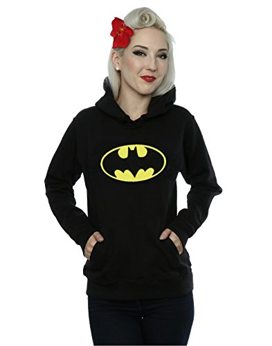 DC Comics mujer Batman Logo Capucha XX-Large Negro