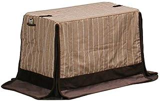 ハイタイプ/ダイニングこたつ布団 小型長方形90×60巾コタツ用 ライン柄90×60 高脚用薄掛け布団