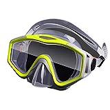 TOMYEER - Set de esnórquel seco antivaho para buceo, máscara de buceo fácil respiración y equipo profesional de snorkel para adultos