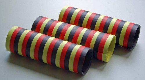 KBO62054 Luftschlange schwarz-rot-gelb