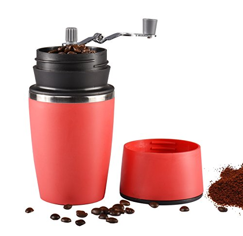 Portable Manual Coffee Grinder, Uong Adjustable Single...