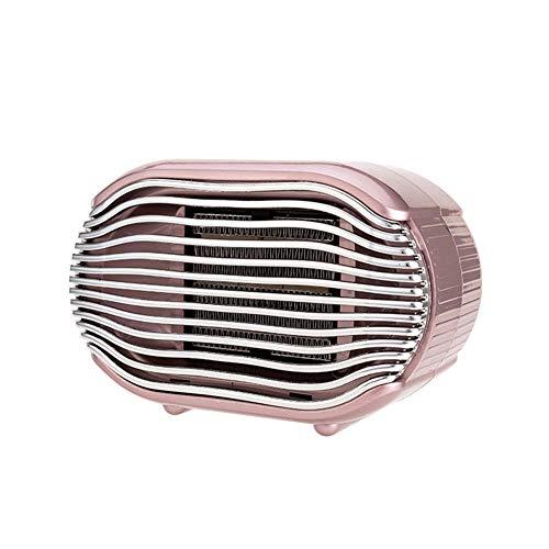 Cxry-Kit Petit radiateur Silencieux, radiateur électrique Neutre Vertical, pour Petit radiateur de Bureau.-Rose