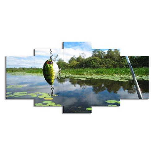 Lienzo Tejido no Tejido Decoración de imagen de pared de estanque de