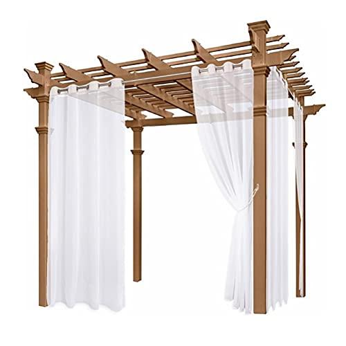 HMBEGG 2 cortinas impermeables para interiores y exteriores, bloqueando el sol, para dormitorio, jardín, porche, sala de estar, pérgola, aislamiento térmico, 150 x 200 cm, color blanco