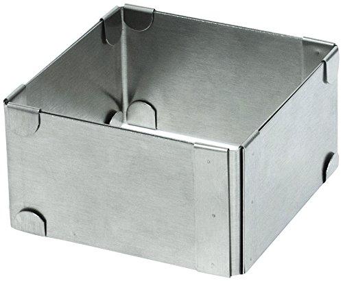 Cuisy Molde Extensible CUAD. 9-15 CM KC2197, Acero Inoxidable, Plata, 9,50 x 9,50 x 5 cm