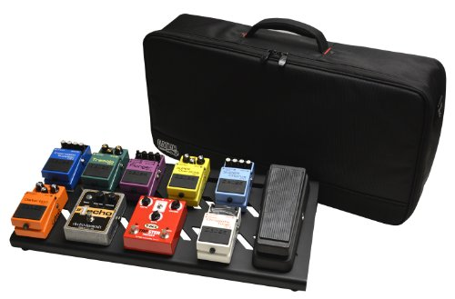 Gator Cases Aluminum Guitar Pedal Board with Carry Bag; Large: 23.75' x 10.66' | Stealth Black (GPB-BAK-1)