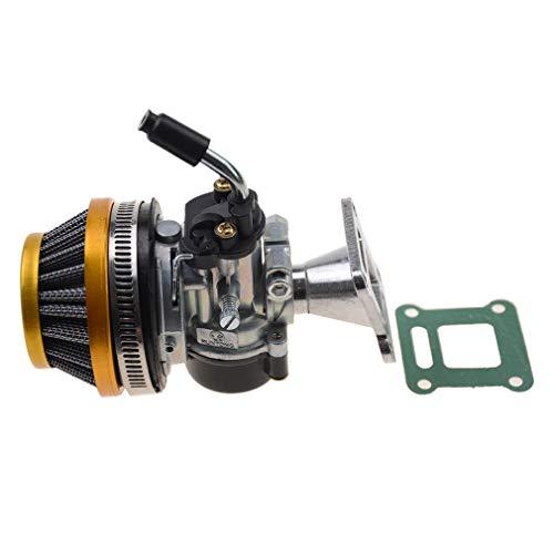 WOOSTAR 19mm Vergaser with Air Filter Gasket Versammlung Ersatz für 2 Stroke 47ccm 49ccm Mini Pocket Bike ATV Quad Chopper Golden