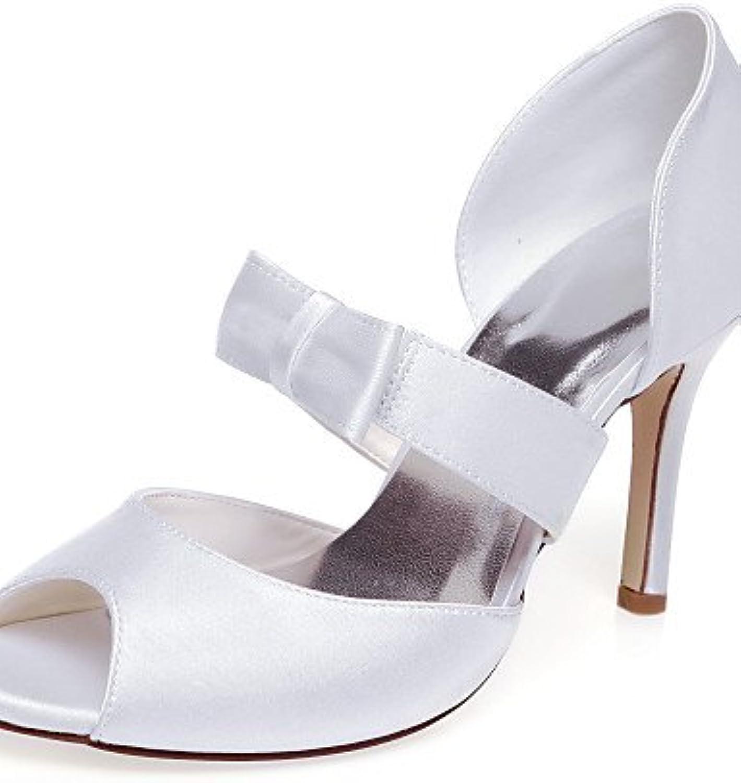 GGX Frauen Hochzeit Schuhe Heels Plattform Heels Hochzeit weiß  | Mittel Preis