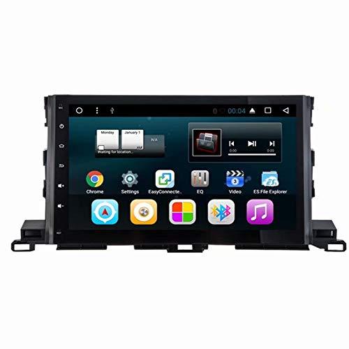 TOPNAVI Android 7.1 Autoradio Quad Core pour Toyota Highlander 2015 2016 2017 Stéréo Navigation GPS avec WiFi 3G RDS Lien Miroir FM AM Bluetooth 2 Go de RAM 32 Go ROM