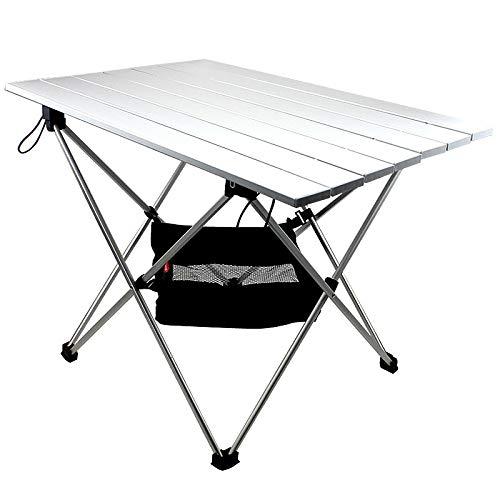 YMYGCC campingtisch Aluminium-Legierung Folding Camp Tabelle Roll-Top leichte, tragbare Stable Versatile Camping Tisch Klapptisch 99 (Color : 02)