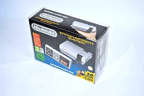 Glacier Games 3 juego de la caja protectora para Nintendo Mini clásico: Nintendo Entertainment System / NES Nintendo Classic Mini caja de adaptación perfecta / Crystal Clear
