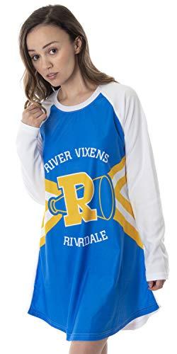 Riverdale Women's River Vixens Costume Raglan Sleep Shirt Pajama Nightgown (LG)