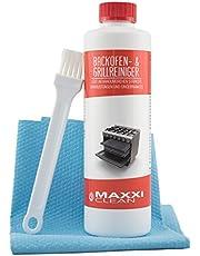 Maxxi Clean Ovenreiniger 500 ml gelpasta incl. oven- en grillreiniger borstel | lost hardnekkigste korstvorming op, reinigt automatisch - zonder opwarmen - zonder geuren + bonus antibac fleece