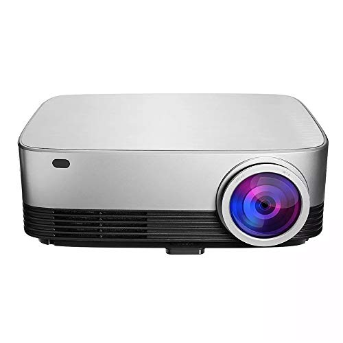 KPOON Video Projector 5.8 Inch LCD Projector For Office Or Home Smart WiFi Projector Support Mini Videoprojector (Color : Photo color, Size : One size)
