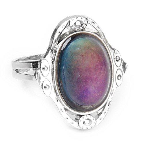 SODIAL Azionamento variabile ovale del cambiamento di colore dell'umore dell'animo dell'anello