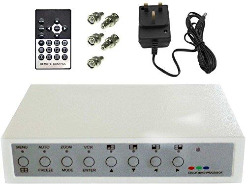 Colour Quad Processor Video Divider for 4 Camera CCTV Security or Spy Camera Systems by SpyCameraCCTV