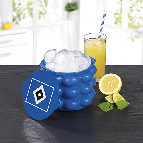 Hamburger SV HSV Eiswürfelbehälter und Flaschenkühler Silikon XXL Eiswürfelform Für Whisky, Cocktails Und Party | HSV Fanartikel Eiswürfelbecher Für Bis zu 24 Eiswürfel [Gelb]