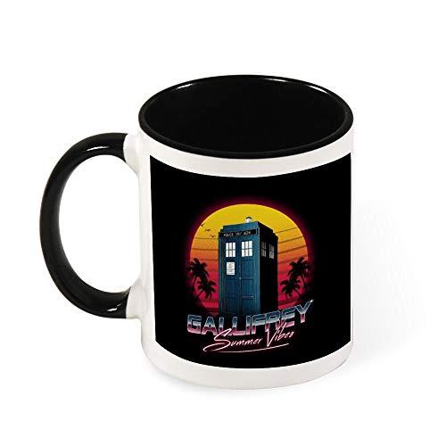 Gallifrey Summer Vibes Dr Who Keramik-Kaffeetasse, Geschenk für Frauen, Mädchen, Ehefrau, Mutter, Oma, 325 ml