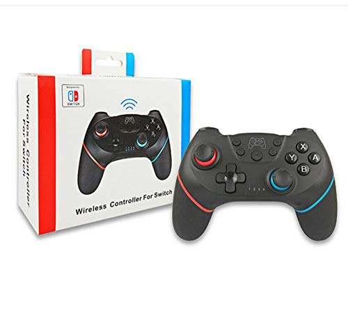 WTZFHF Switch Wireless Controller voor Nintendo Switch, Switch Gamepad met Dual Shock Vibration Motor Gyro 6-assige sensor-turbofunctie Joystick voor Nintendo Switch en PC (blauw rood) A