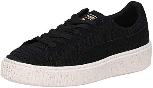 Puma Basket Platform OW, Zapatillas para Mujer, Negro (Black-Black-Whisper White), 38.5 EU