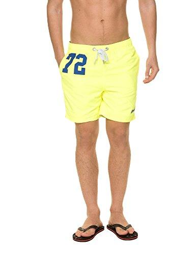 Superdry Premium Water Shorts, Verde Lime (Cuba Green), M Homme