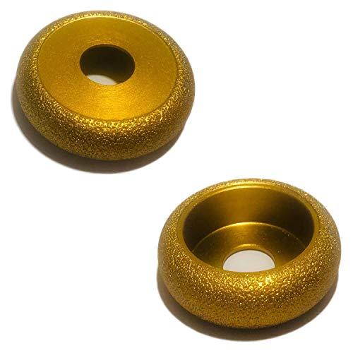SEDION ® diamant binnen randfrees - Ø 75 mm x 22,23 x R10 voor het afronden van harde tegels graniet etc - radiusfrees compatibel met Bosch Makita & e.v.m hoekslijper Flex afrondfrees Ø 75mm R 10