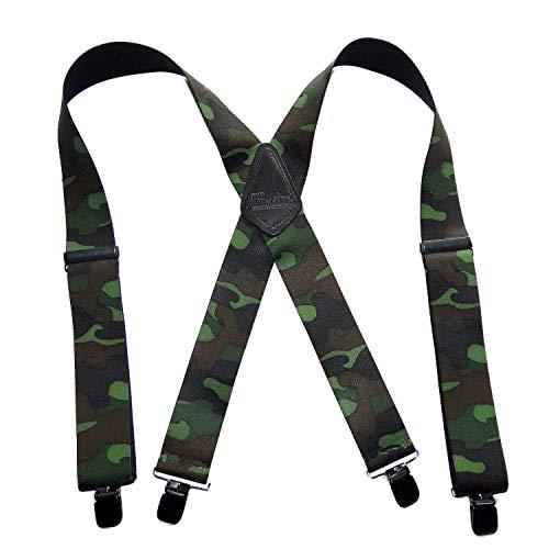 Holdup Brand Woodland Camouflage Hunting Suspenders with jumbo...