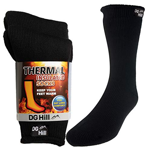 DG Hill 2 Pairs of Mens Thick Heat Trapping Thermal