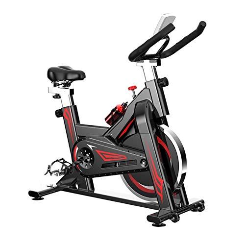 HMBB Bicicletas estáticas y de Spinning, Ejercicio Bicicleta 330 lbs de Capacidad de Peso, Bicicleta de Ciclismo Interior con cómodo cojín de Asiento, Tableta y Monitor LCD