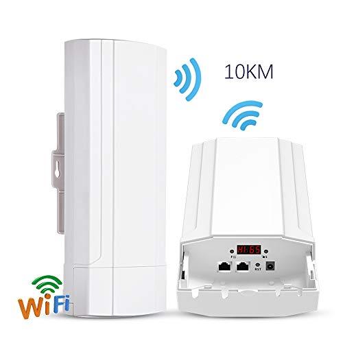 HM2 Router CPE Esterno 5G 900Mbps PTP 10KM Range Access Point Wi-Fi Wds Wireless WiFi Bridge Extender Ripetitore WiFi per Telecamera IP