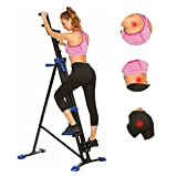 Aceshin Vertical Climbing Machine Stepper Climber Stair Home Body Workout Exercise Fitness Foldable (Dark Blue)