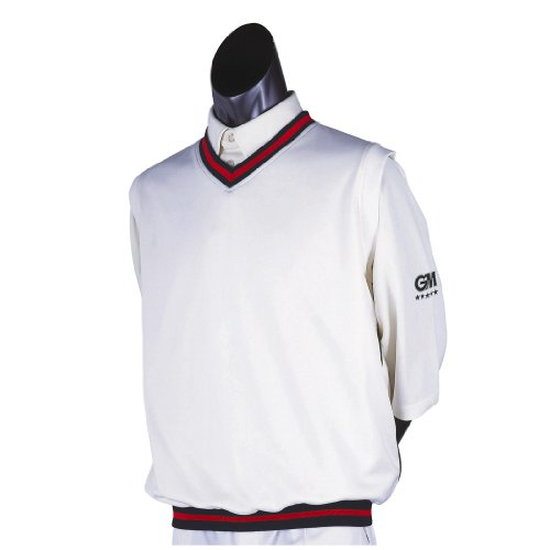 Gunn & Moore GM Teknik Cricket-Slipper Marineblau/Rot, Größe XL