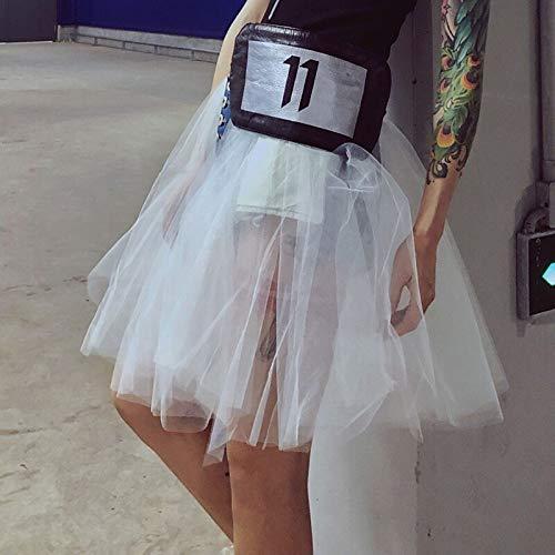 MIBKLPG Rokken Voor Dames Zomer Mode Mesh Patchwok Denim Rok Hoge Taille Minirokken