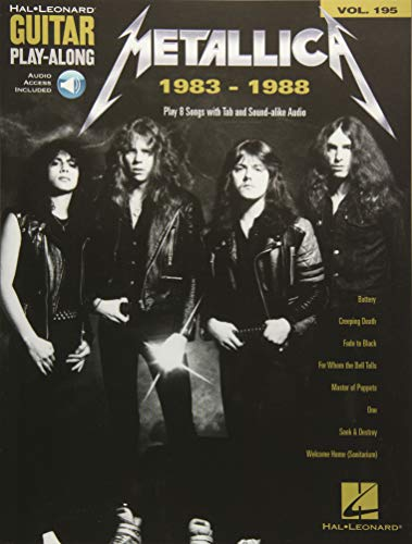 Metallica: 1983-1988: Guitar Play-Along Volume 195