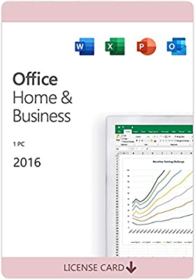 Office Home and Business 2016 for 1 PC | KeyCard (not CD) | Lifetime License | New
