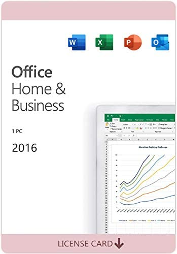 Office Home and Business 2016 for 1 PC KeyCard not CD Lifetime License New product image