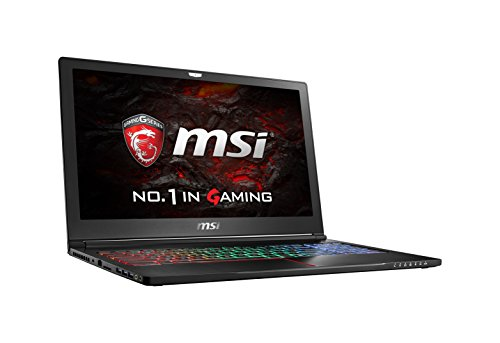 "MSI VR Ready GS63VR Stealth Pro-068 15.6"" Slim and Light Gaming Laptop Geforce GTX 1060 i7-6700HQ 16GB 512GB SSD Windows 10"