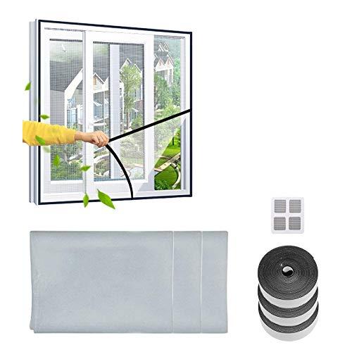 CZNDY 3pcs Mosquitera para ventana,barrera de insectos de malla de fibra de vidrio reemplazable para puerta de fibra de vidrio,kit de protección antimosquitos DIY insectosregalo + 1 subsidios