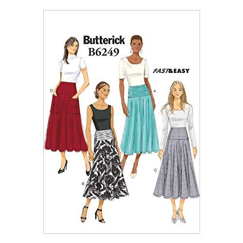 Butterick Patterns Butterick Schnittmuster 6249 A5, Damenrock, Größen 34-38-40-42, (6-8-10-12-14)