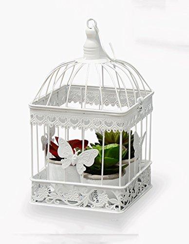 ZENGAI Flower Pot étagère de style européen de fer mur suspendu cadre de fleur Square Bird Cage décoration Props Fenêtre ornements Flower Rack (taille : 19cm)