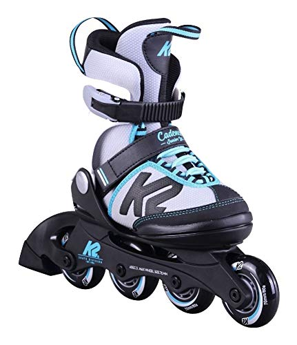 K2 Cadence JR Kinder Inline Skates größenverstellbare Inliner Rollerskates für Mädchen (größenverstellbar von 32-37)