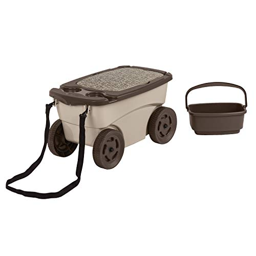 Suncast Outdoor Rolling Garden Scooter