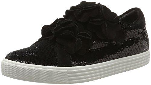 Kennel und Schmenger Schuhmanufaktur Damen Town Sneaker, Schwarz (Black Sohle Weiss), 38 EU (5 UK)