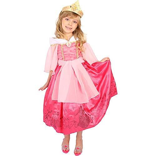 Fantasia Bela Adormecida Princesa Aurora Infantil Luxo Rubies M 5-8