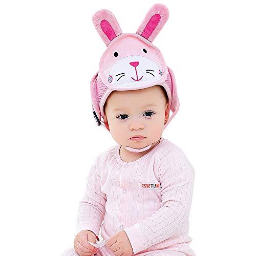 Leegoal Baby-Helm, Einstellbare Sicherheit Kopfschutz für Kleinkind Baby Lernen, zu Fuß (pink)